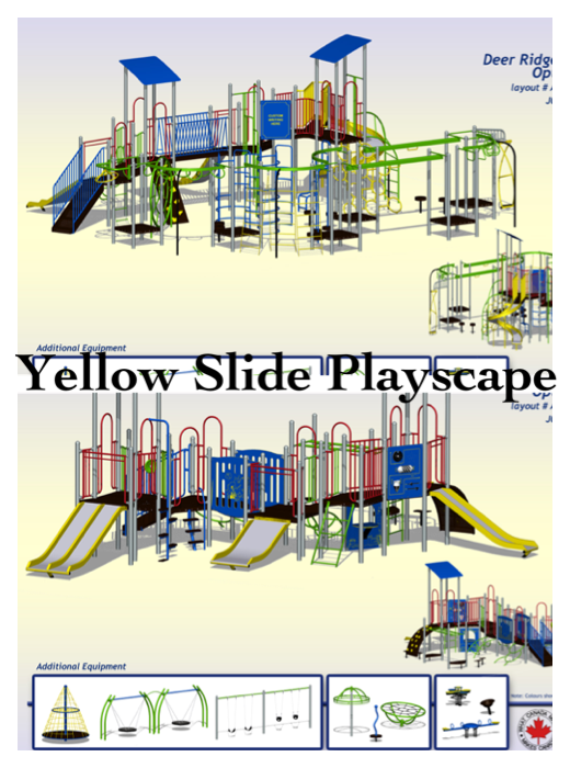 Yellow Slide Playscape Replacememnt