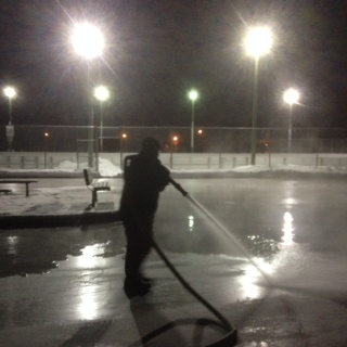 December 19, 2013-Deer Ridge Rink flood