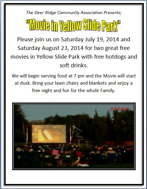 Movie in Yellow Slide Park-  2014
