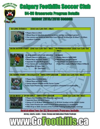 2015-2016 Foothills Soccer