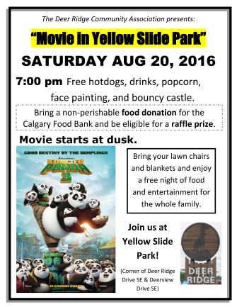 Movie in the Park - August 20th, 2016