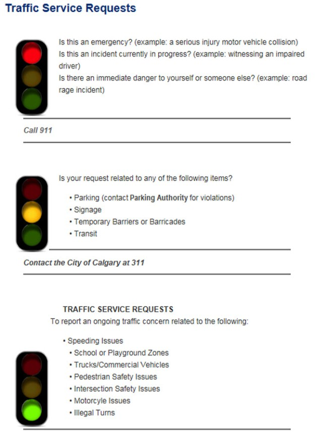 Do you have an ongoing traffic concern? | Deer Ridge